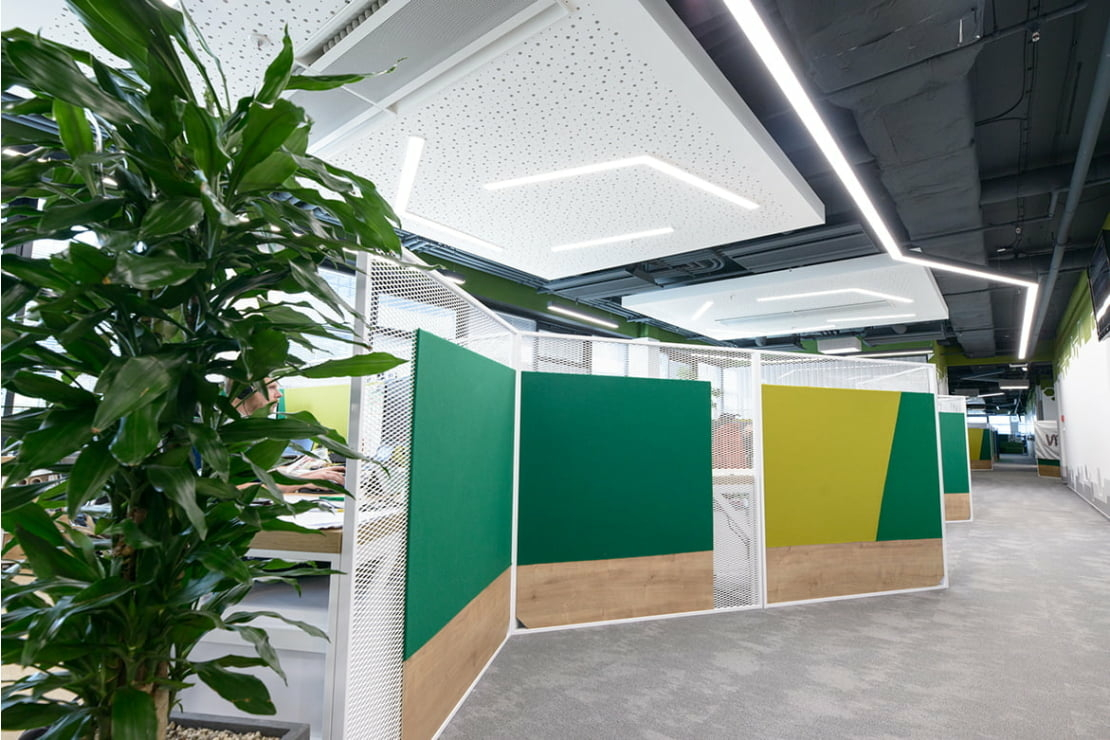 Kanceláře Global IT Center s DALI řízením