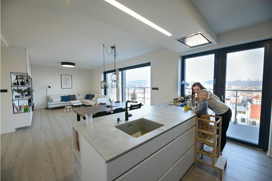 Minimalistický byt Brno