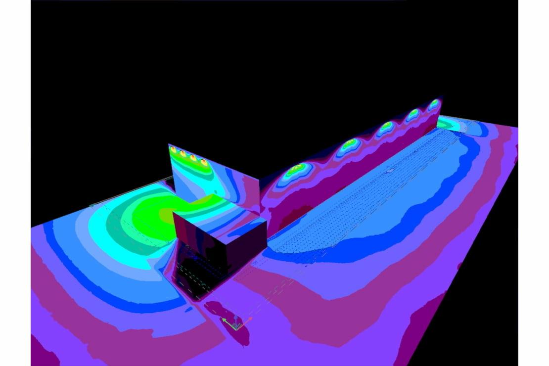 Sklad s výškovými regály a DALI řízením svítidel / vizualizace