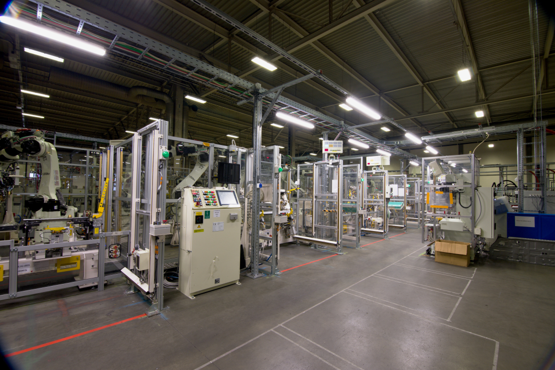 Osvětlení v Toyota Motor Manufacturing Kolín