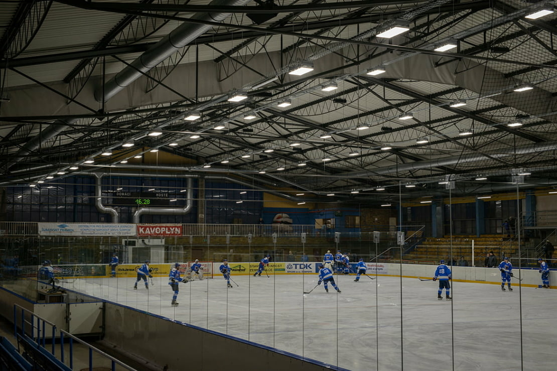Zimní stadion Šumperk s DALI řízením